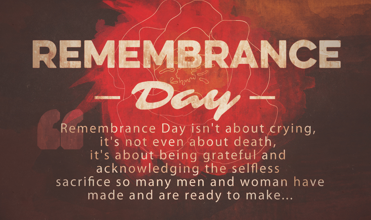 """Remembrance Day: Say """"Thank-you"""""""