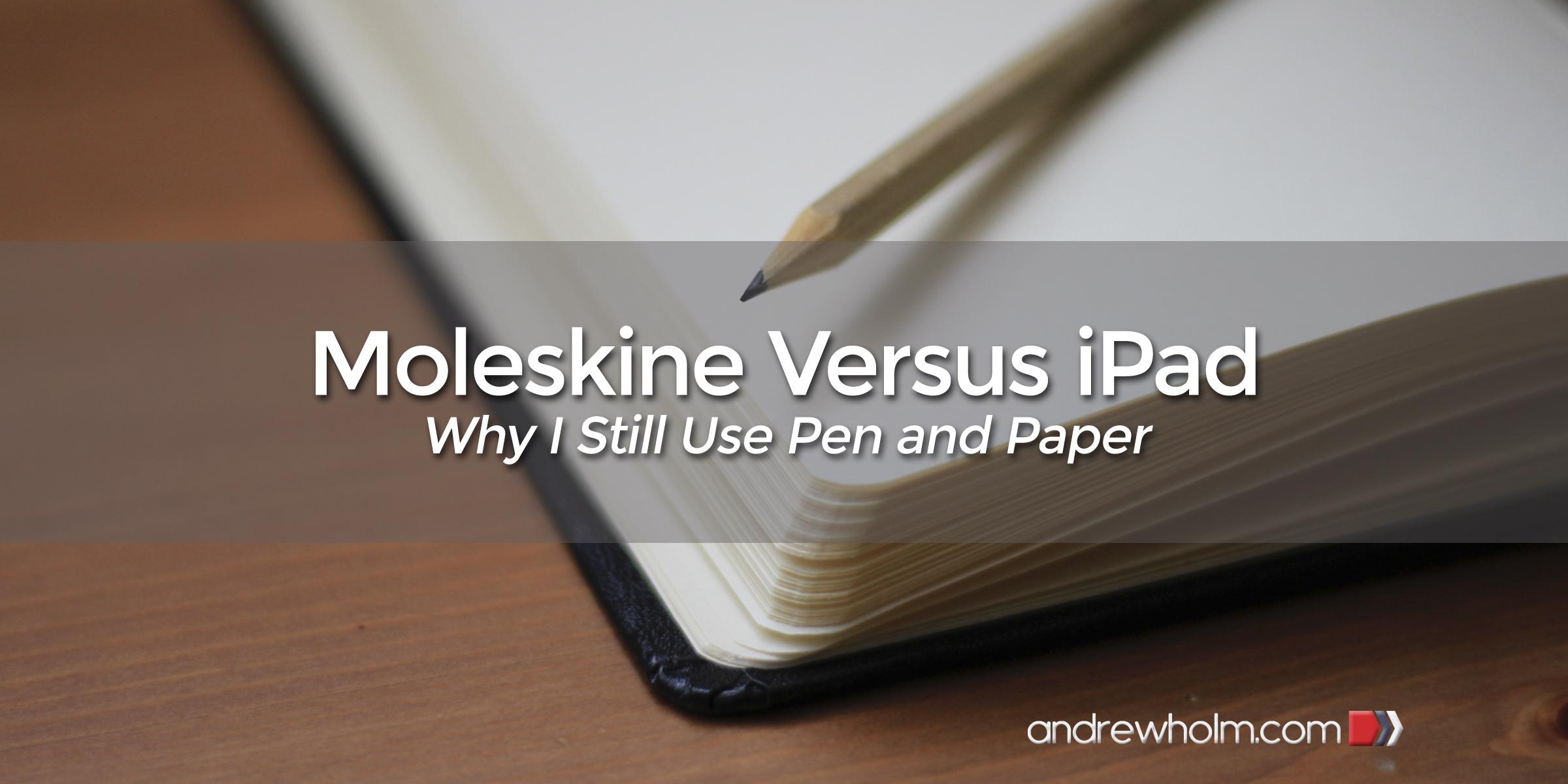 Moleskine Versus iPad
