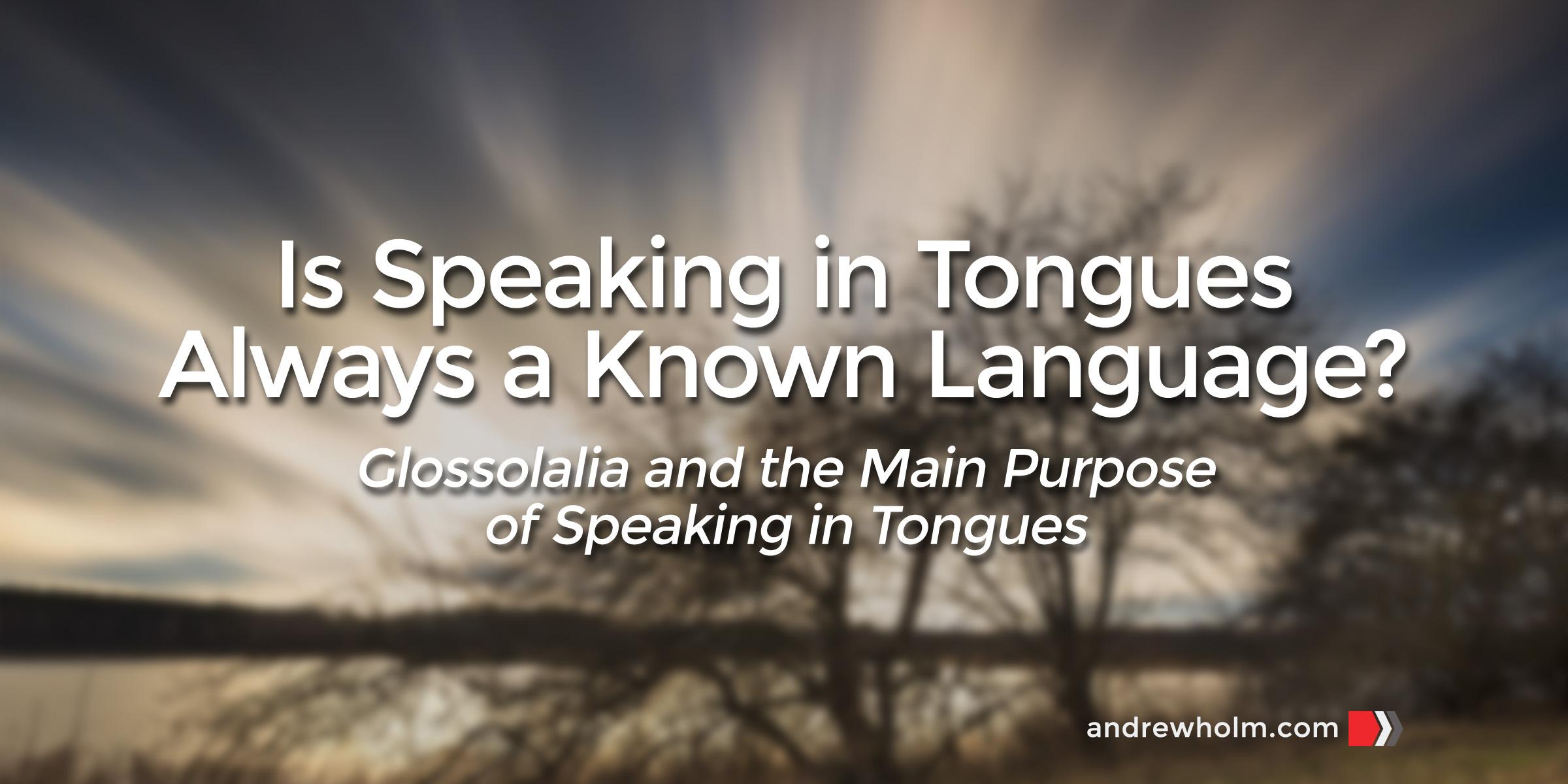 Tongues-Language