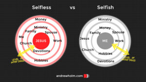 Discipleship Journey: Selfless vs Selfish