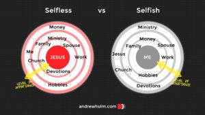 Discipleship Journey: Selfless vs Selfish