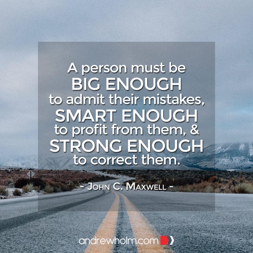 Mistakes - John C Maxwell