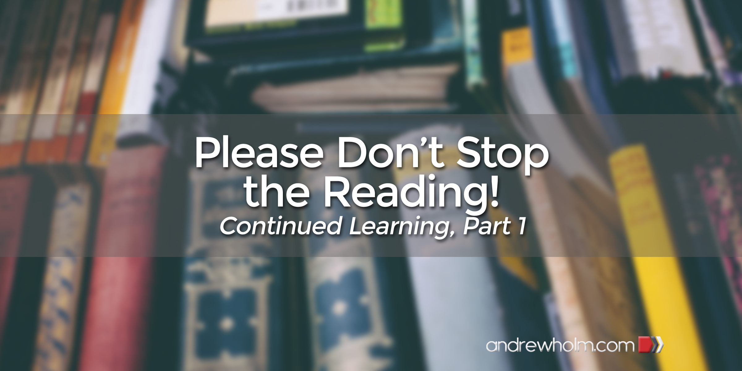 Please Don't Stop The Reading!