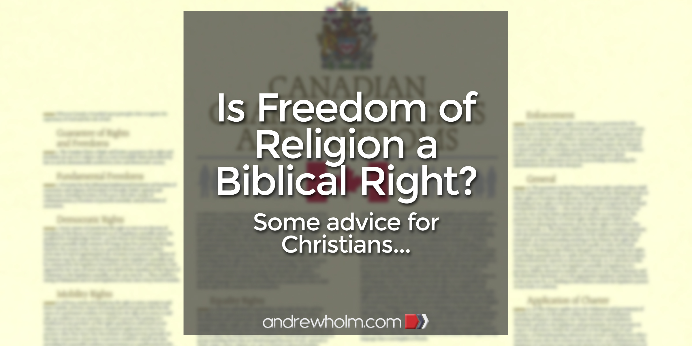 Is Freedom of Religion a Biblical Right?