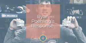 Ryan Poehling's Reponse