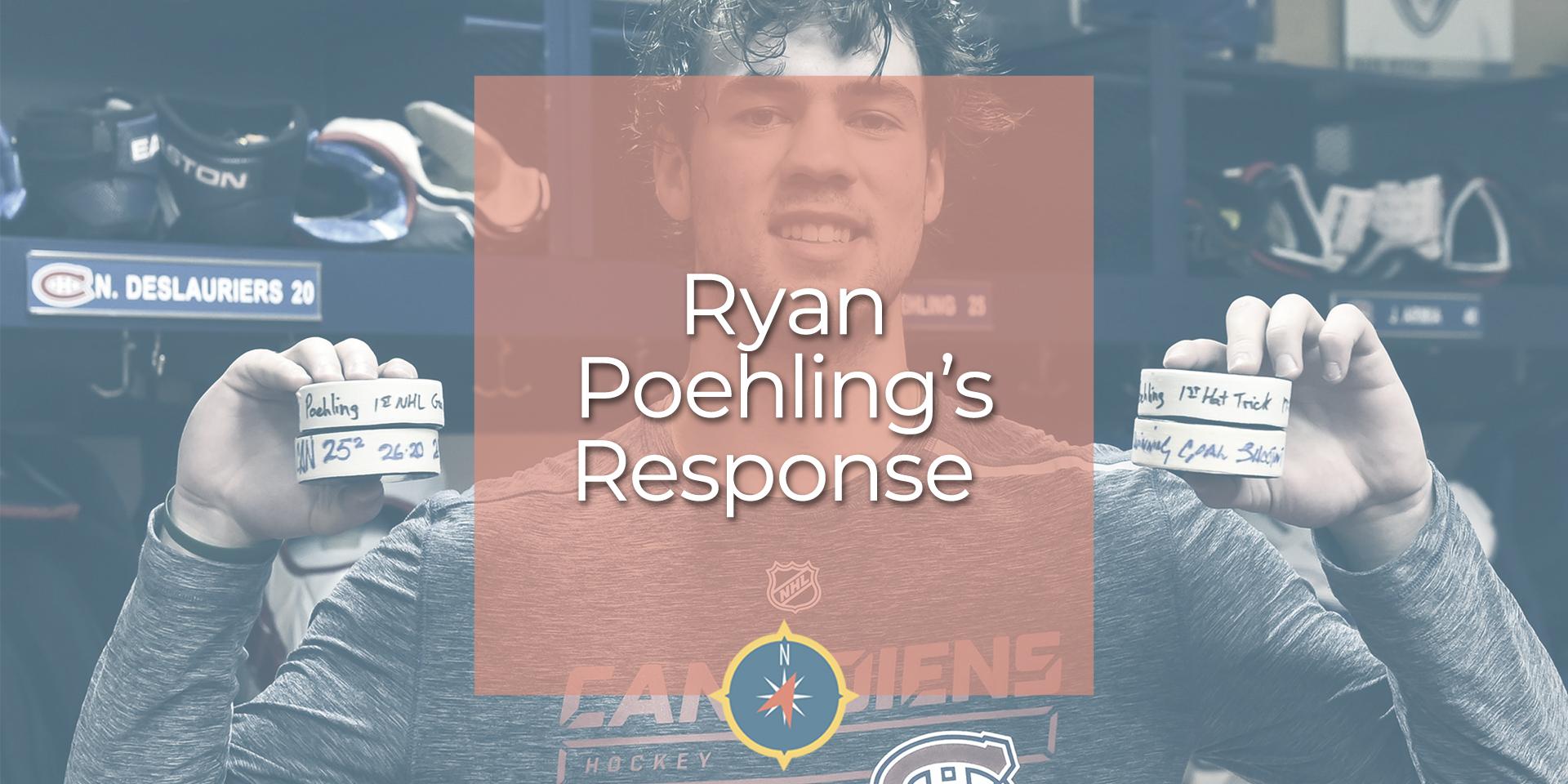 Ryan Poehling's Response to His First NHL Game
